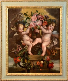 Flower Trophy Art 17th Century Old Master Holland Baroque Paint Oil on canvas