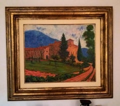 Gaspar Riera original. landscape and typical house of mallorca.acrylic Painting