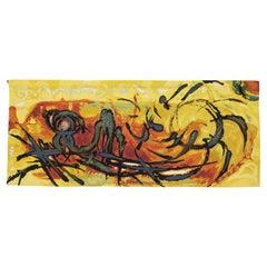 Gaspard de Wit Eclat de Soleil, Sunshine, Hand-Woven Wool Tapestry Belgium 1950s