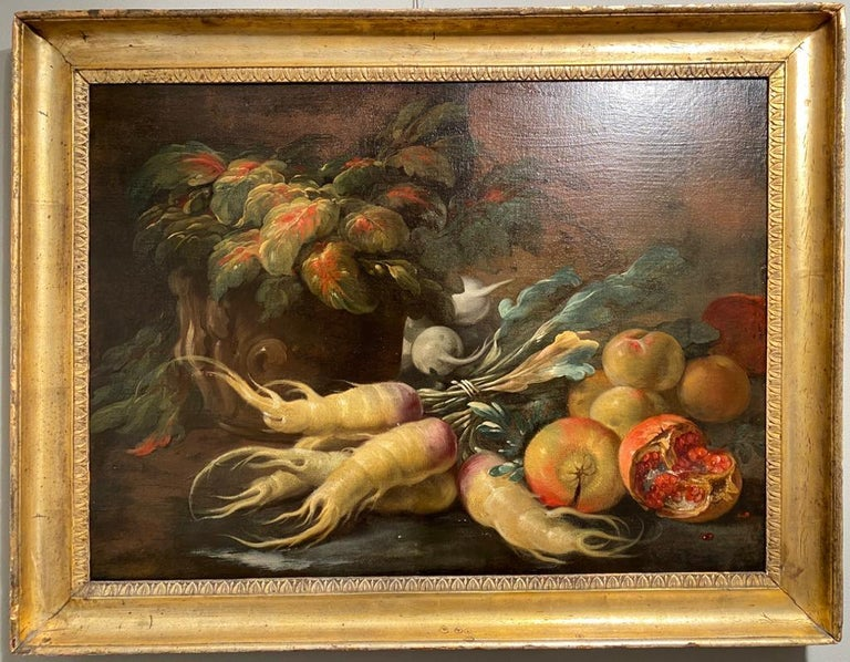 Two Exceptional Italian 18th Century Still-Life Paintings by Lopez & Houbraken For Sale 8