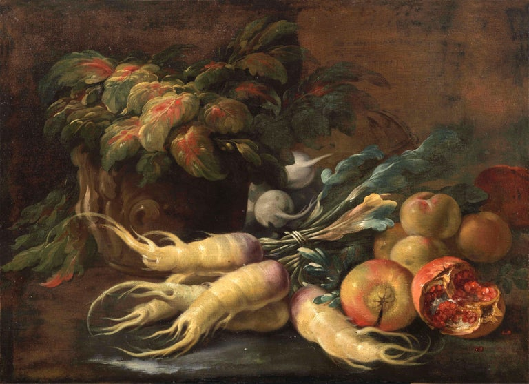 Two Exceptional Italian 18th Century Still-Life Paintings by Lopez & Houbraken For Sale 9