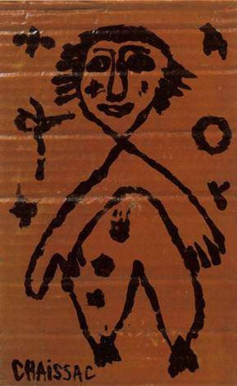 Gaston Chaissac Portrait Painting - Character