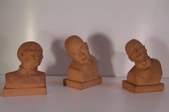 a set of three Chinese portraits