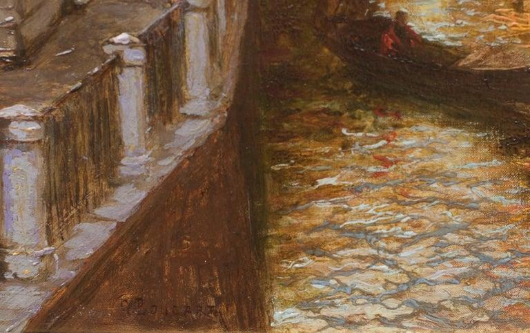 Venice - Brown Landscape Painting by Gaston Hippolyte Ambroise Boucart
