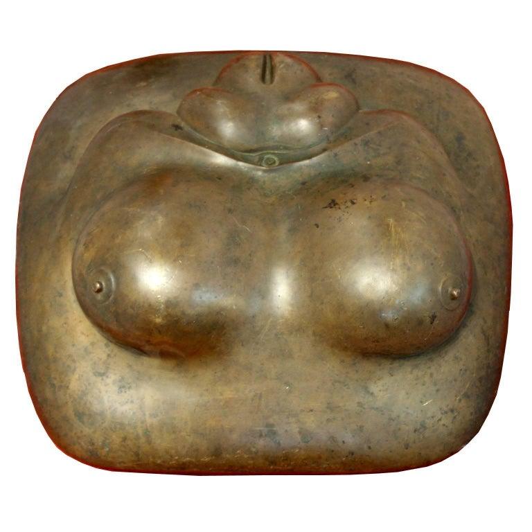Gaston Lachaise Bronze Sculpture Reclining Female Torso