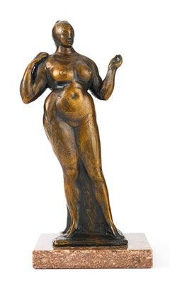 Female Figure (Standing Nude, Left Hand Raised)