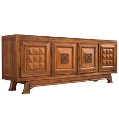 Gaston Poisson Large Art Deco Credenza