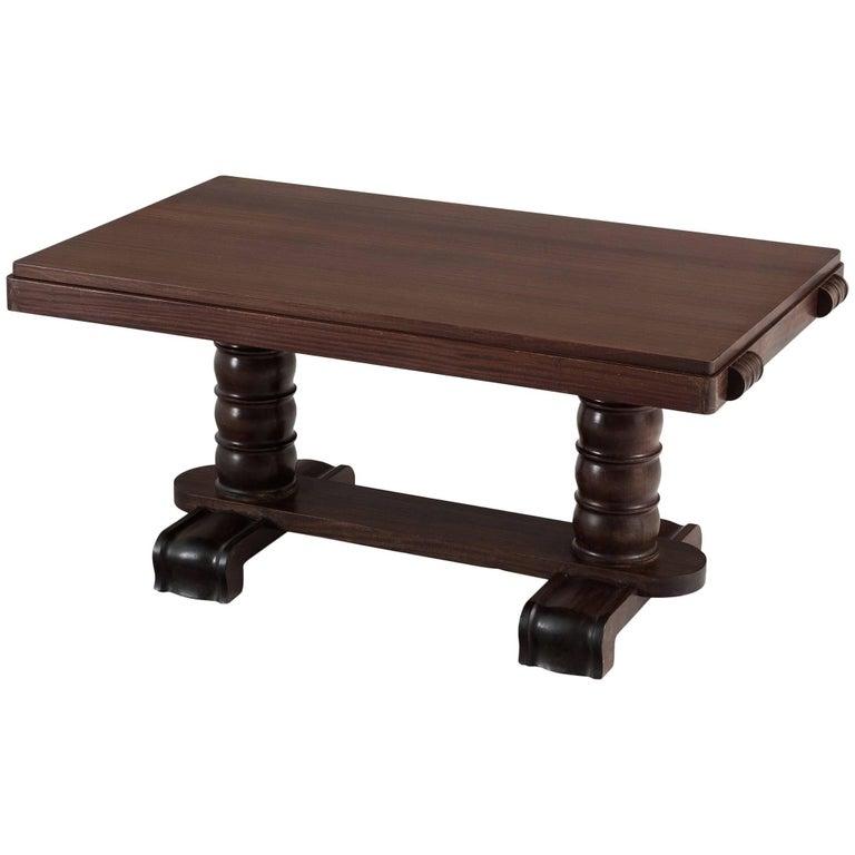 Gaston Poisson Mahogany Dining Table