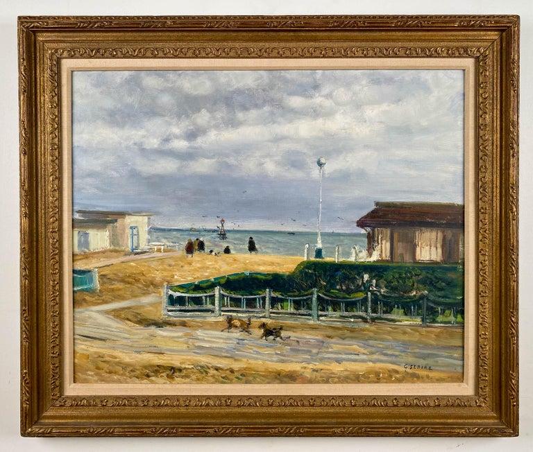 Gaston Sebire Landscape Painting - At The Seaside