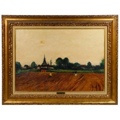 Gaston Sebire Signed French Oil Landscape