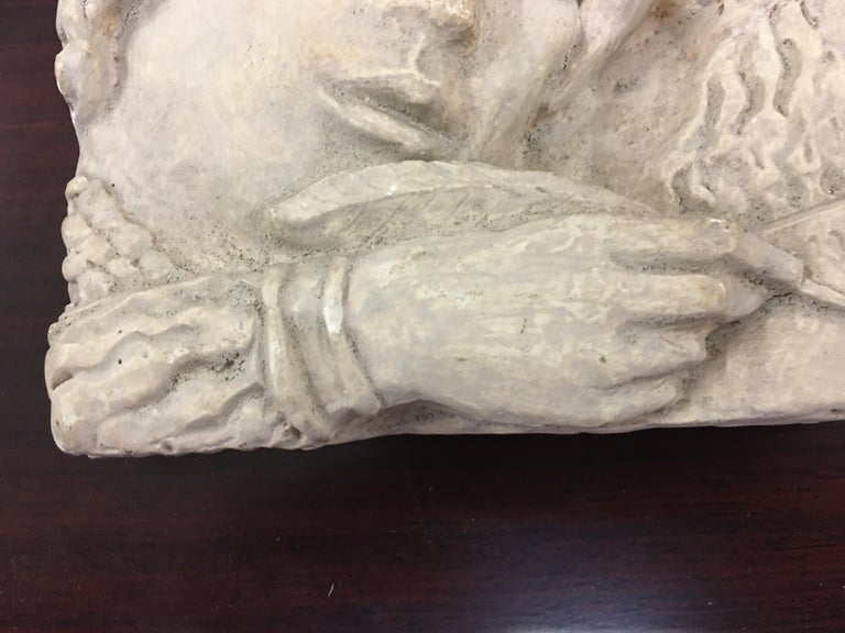 Gaston Watkin Small Art Deco Bas-Relief in Plaster, Signed, 1942 For Sale 3