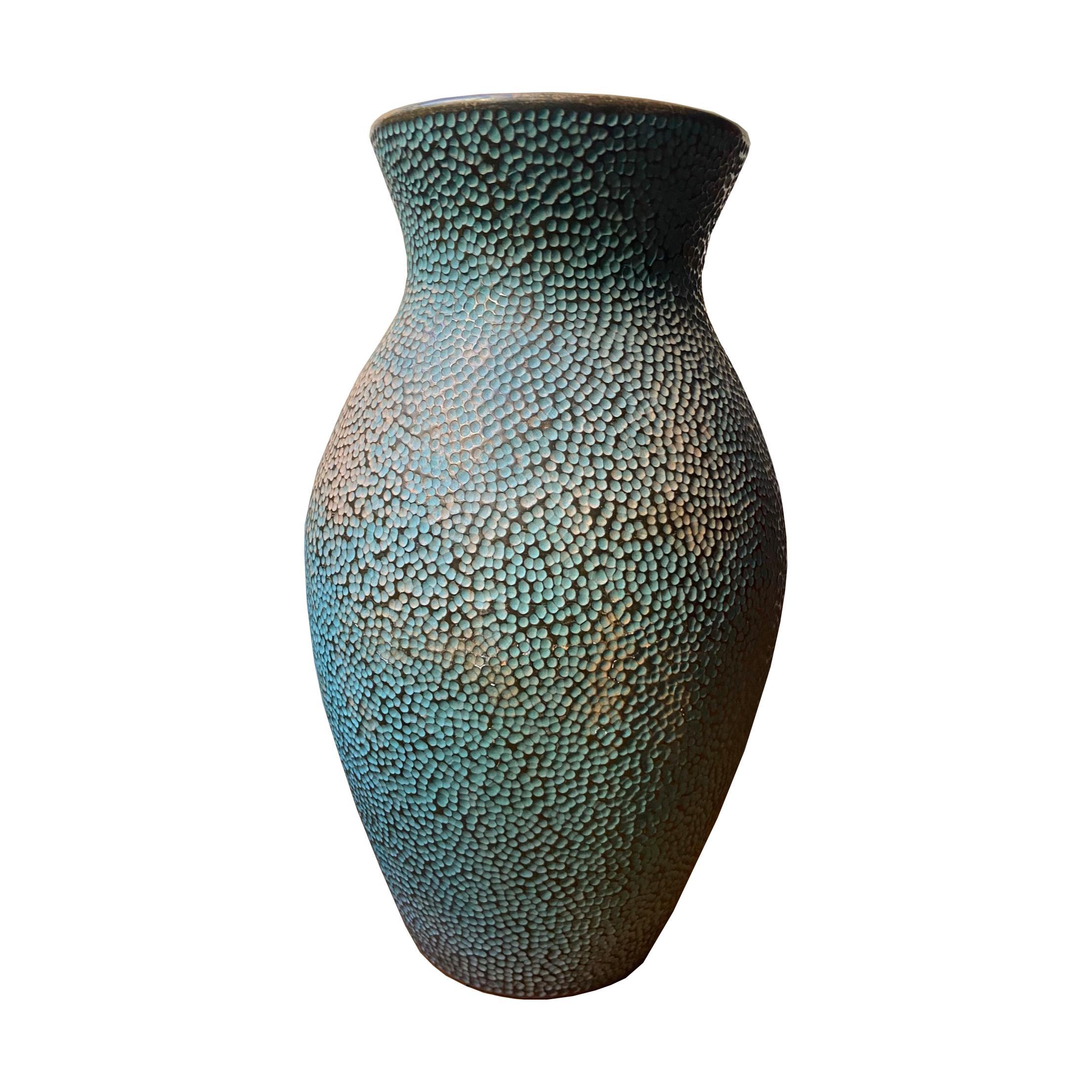 Gastone Batignani Engraved Ceramic Vase, Italy 1940s
