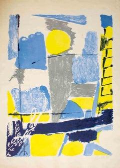 Composition - Original Lithograph by Gastone Breddo - 1961
