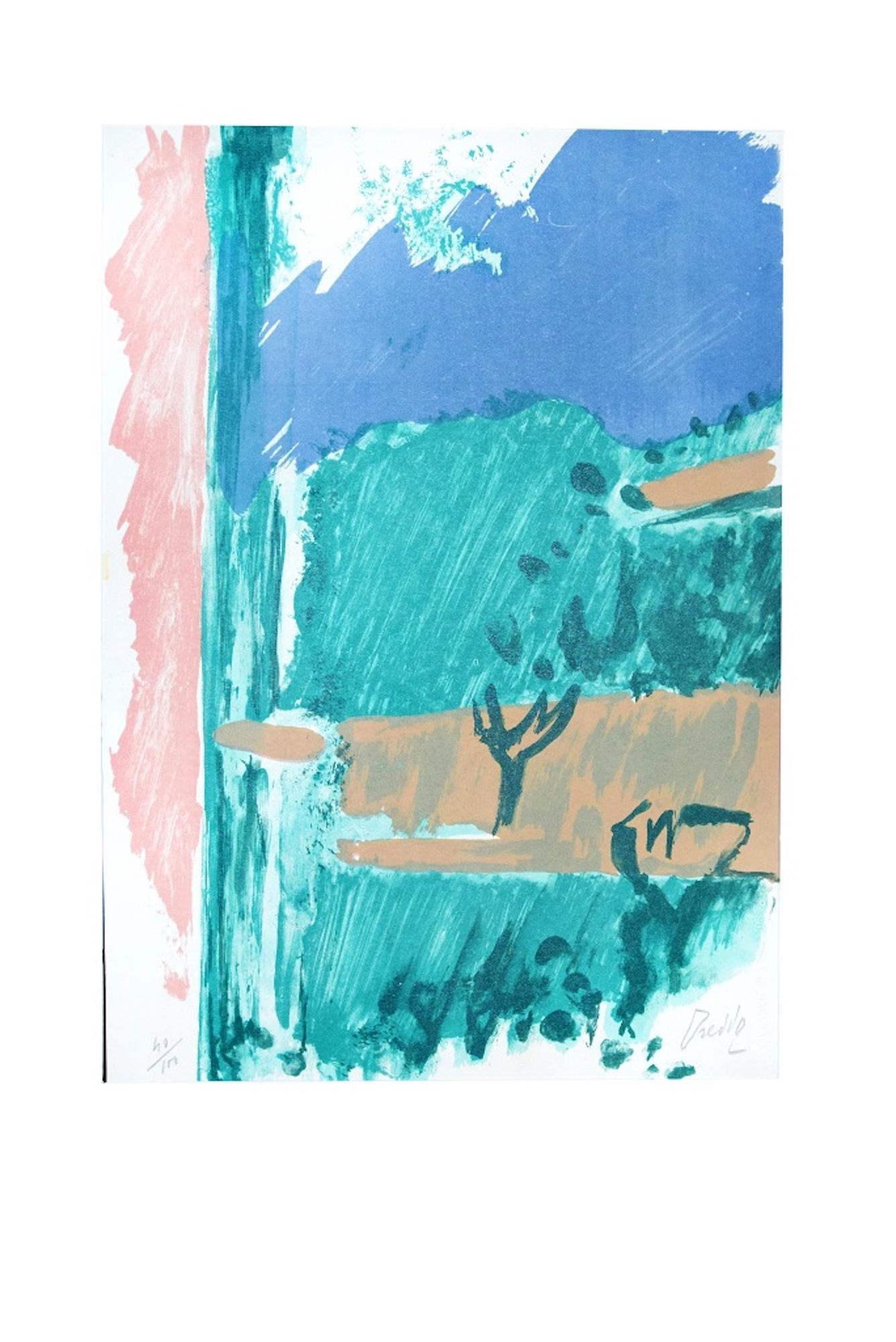 From the Window - Original Lithograph by Gastone Breddo - 1970s