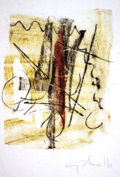 Untitled - Original Monotype by Gastone Novelli - 1957