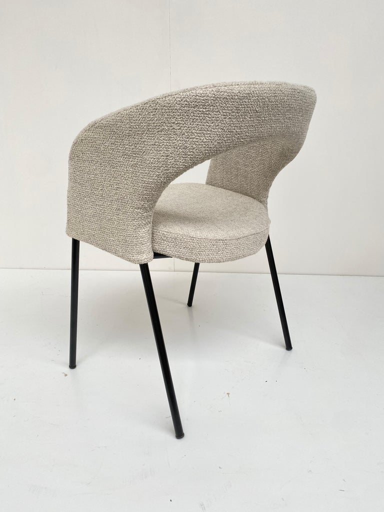 Steel Gastone Rinaldi Dining Chairs from Hotel 'Abano Terme', 1960  with certificate For Sale