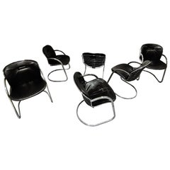 Gastone Rinaldi Dining Chairs, Set of 6, 1970s