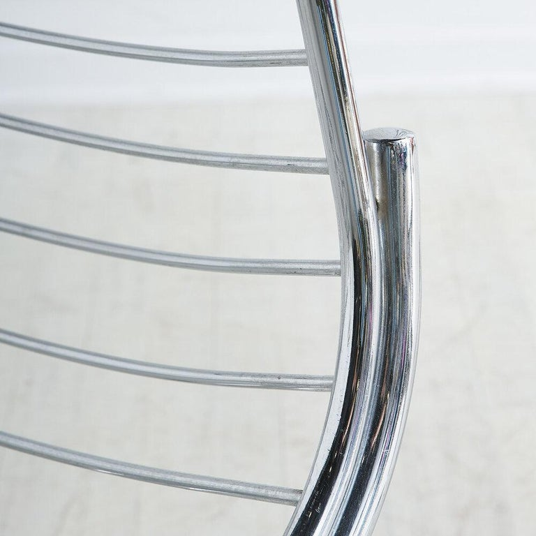 Gastone Rinaldi for RIMA Chrome Dining Chairs, Set of 4 In Excellent Condition For Sale In Chicago, IL