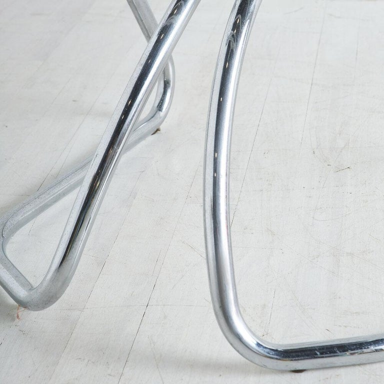 Gastone Rinaldi for RIMA Chrome Dining Chairs, Set of 4 For Sale 2