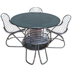 Gastone Rinaldi Mid-Century Modern Italian Dining Table Set for Rima, 1970s