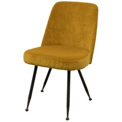 Gastone Rinaldi Restored Midcentury Velvet Desk Chair for RIMA, 1950s