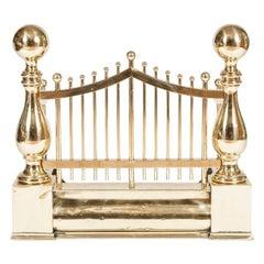 Gate Fronted Edwardian Brass Fire Guard