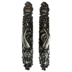 Gates Mansion Cast Bronze Serpent Pulls Reproduction