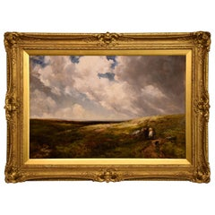 """Gathering Whortleberries, Dartmoor"" by Edmund Morison Wimperis"