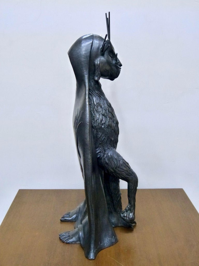 Gato De La Noche 'Night Cat' Surrealism Bronze Sculpture By Leonora Carrington In Excellent Condition For Sale In Torreon, Coahuila