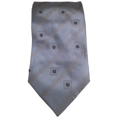 Gatsby light blue grey silk tie