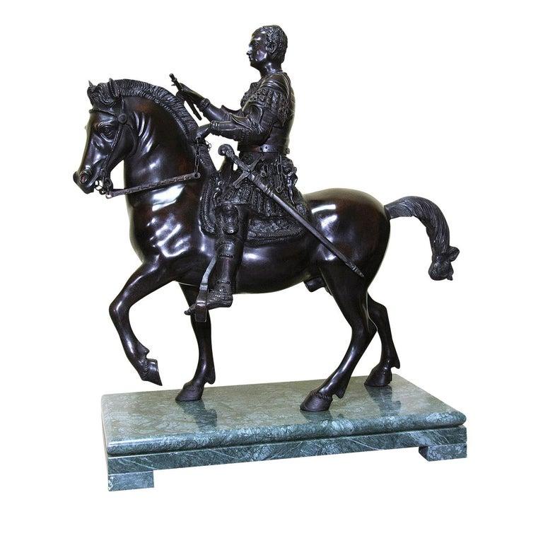 Italian Gattamelata Statue For Sale