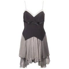 GATTINONI Vintage Black & White SKATER DRESS Sleeveless SIZE 44