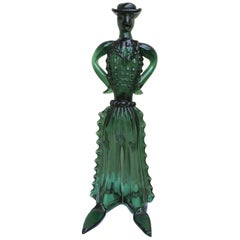 Gaucho Cowboy Figure in Blown Glass Attributed to Barovier