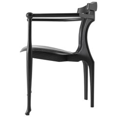 Gaulino Easy Chair, Black Lacquered