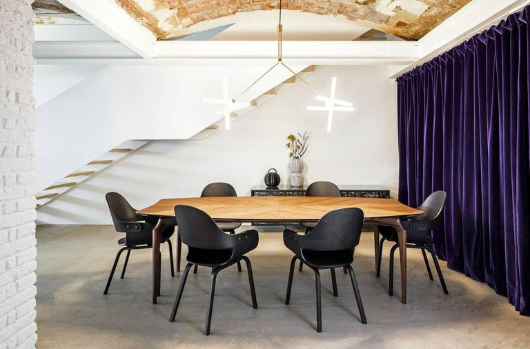 Modern Gaulino Walnut Table For Sale