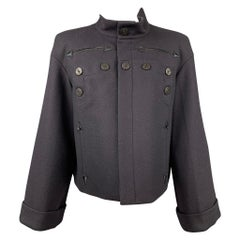 GAULTIER2 by JEAN PAUL GAULTIER Size US 10 Navy Wool / Polyester Sailor Jacket