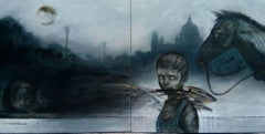 """Dreams, Acrylic on Canvas by Contemporary Indian Artist """"In Stock"""""""