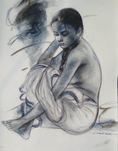 """Untitled, Mixed Media on Paper by Contemporary Artist """"In Stock"""""""