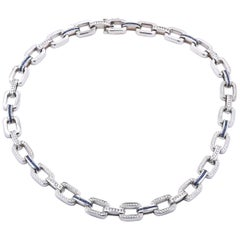 Gauthier Sapphire and Diamond Necklace