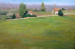 Old Houses in the Limousin countryside, Painting, Oil on Canvas