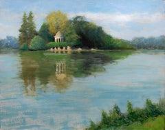 Paris Park bois de Vincennes, the Temple of Love, Painting, Oil on Canvas