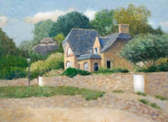 Saint Guirec, Perros-Guirec Brittany House, Painting, Oil on Canvas