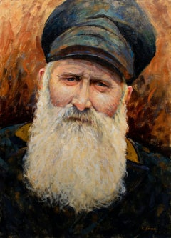The Old Bearded Sailor, Impressionist Portrait, Painting, Oil on Canvas