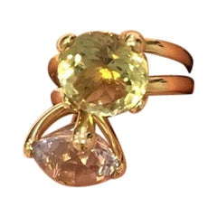 Gavello 18 Carat Yellow Gold Multi Gem Fashion Ring