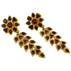 Gavilane Paris Vintage Jewelled Dangling Earrings