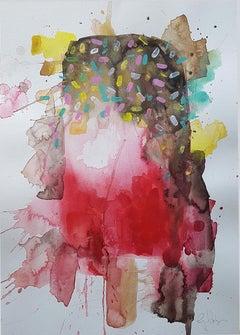 Gavin Dobson, Melted Fab, Original Impressionist Painting, Food Art, Bright Art