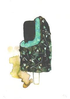 Feast, Gavin Dobson, Limited edition print, Ice Cream art, Bright Affordable Art