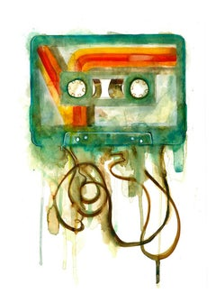 Gavin Dobson, Cassette, CYMK Screen Print, Limited Edition Print, Art Online