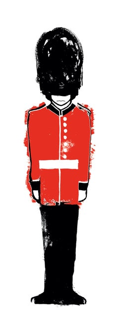 Gavin Dobson, Queen's Guard, Limited Edition Print, London Art, Affordable Art
