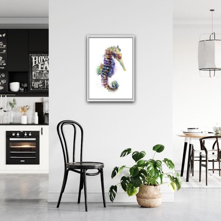 Gavin Dobson, Seahorse, Affordable Art, Screensprint Art - Contemporary Print by Gavin Dobson